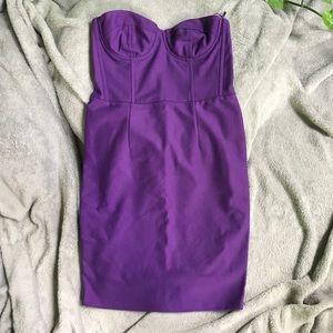 Topshop purple party cocktail dress size S